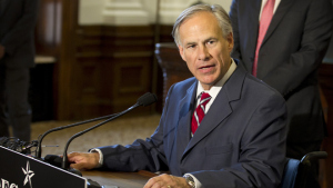 Texas Governor-elect Greg Abbott addresses media during a news conference, Wednesday, Nov. 5, 2014, at the Capitol in Austin, Texas. Abbott is the first new Texas governor in 14 years — and he did it in a landslide. He crushed Democrat Wendy Davis by one of the biggest margins in any of three dozen gubernatorial races across the U.S., carrying nearly 60 percent of the vote by early Wednesday as Texas underwent its biggest political shake-up in decades. (AP Photo/Austin American-Statesman, Jay Janner) AUSTIN CHRONICLE OUT, COMMUNITY IMPACT OUT; INTERNET AND TV MUST CREDIT PHOTOGRAPHER AND STATESMAN.COM; MAGS OUT